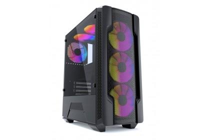 HIZLI ALTO ELITE ATX Gaming Casing With 4 ARGB Fan+ Thermaltake Litepower 450W/550W/650W / Salpido ATX-500W Power Supply