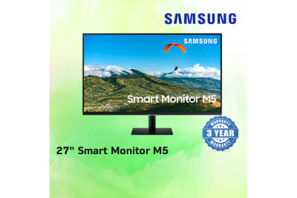 "SAMSUNG SMART MONITOR M5 27"" FHD 8MS Wireless WiFi LED Monitor [ LS27AM500NEXXS ]"
