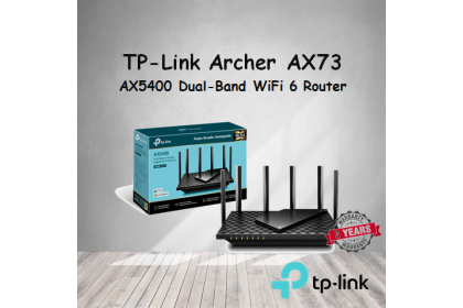 TP-Link Archer AX73 AX5400 Dual-Band Gigabit Wi-Fi 6 Router with HomeShield Security