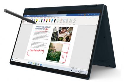 LENOVO IDEAPAD FLEX 5 Working Laptop - Graphite Grey | Intel Core i3-1135G7 + Touch Screen + GeForce MX450 [ 82HS00AQMJ ]
