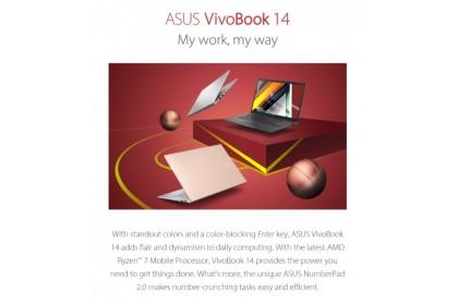 Asus VivoBook 14 M413D-AEB454TS 14'' FHD Laptop Bespoke Black ( Ryzen 7 3700U, 8GB, 512GB SSD, ATI, W10, HS )