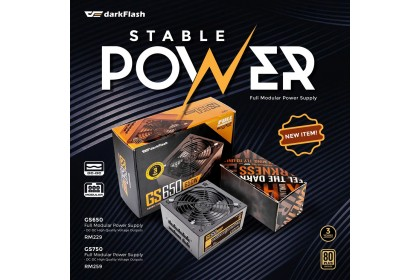 DARKFLASH GS750 750W 80 PLUS BRONZE FULL MODULAR POWER SUPPLY